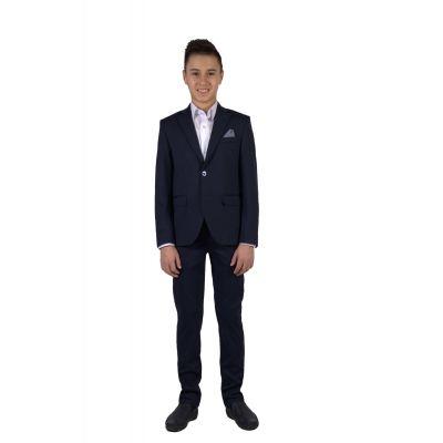 Брюки школьные для мальчика трикотаж Tven 8.2 синий