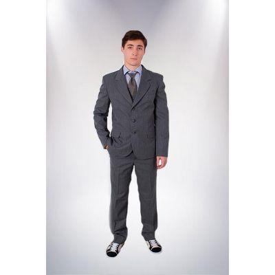 Пиджак школьный подростковый М-8 серый