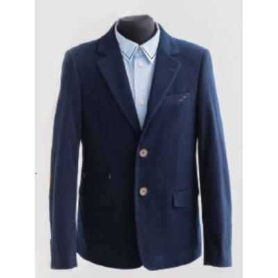 Пиджак школьный для мальчика 419 вельвет синий