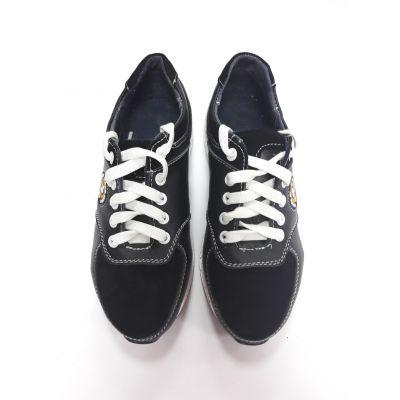Туфли кроссовки для мальчика черные КП95