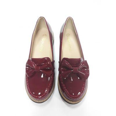 Туфли для девочки бордовые Doremi 1829-L