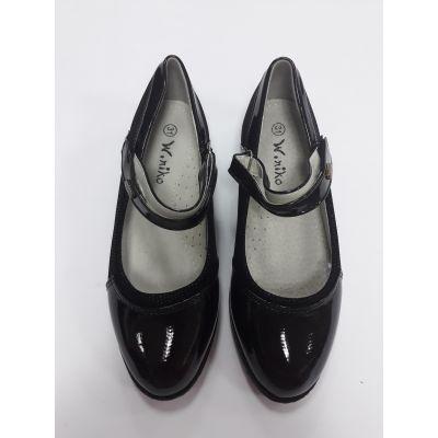 Туфли для девочки черные 3337-12