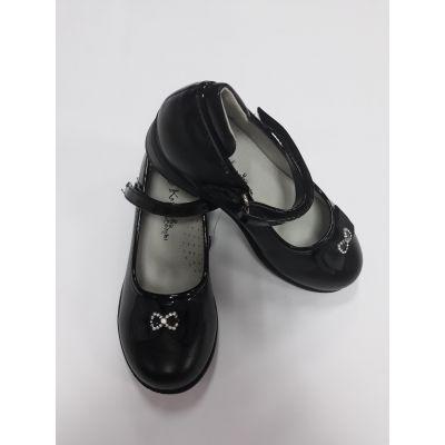 Туфли для девочки черные ZKK2817-49