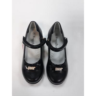 Туфли для девочки черные ZKK2817-50  Королева Красоты