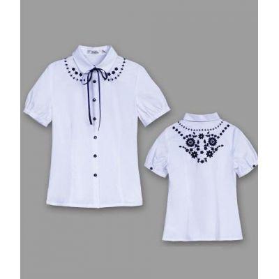 Блуза школьная для девочки Deloras 61231 СИНЯЯ