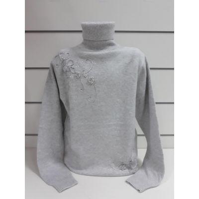 Свитер для девочки серый  FashionKid/s