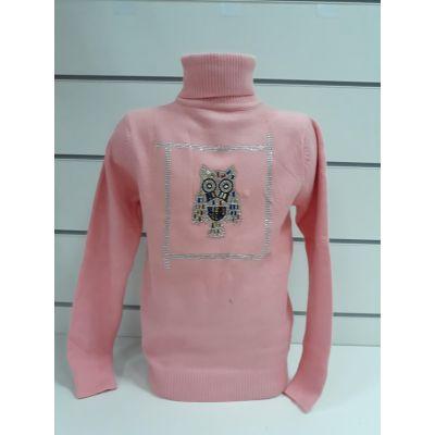 Гольф для девочки розовый 8074