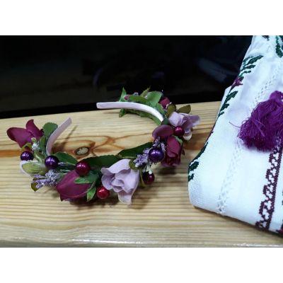 Обруч Сиреневые розы ТМ Sonechko