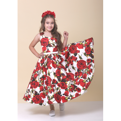 Нарядное платье для девочки Стиляги Красная Роза