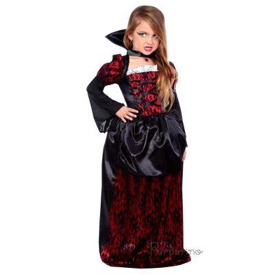 Карнавальный костюм для девочки Вампирша арт 2093