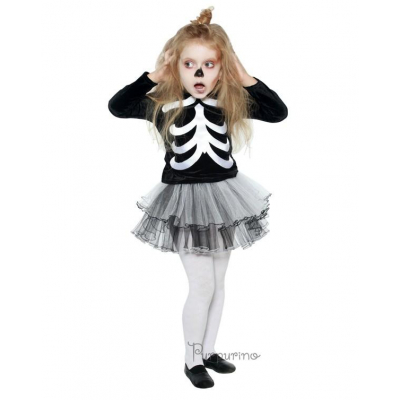 Карнавальный костюм для девочки Скелет арт 2051