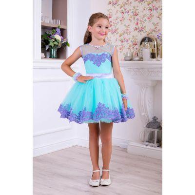 Нарядное платье для девочки 10751