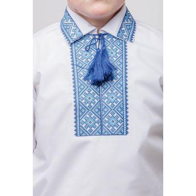 Вышиванка для мальчика Щедрик синий