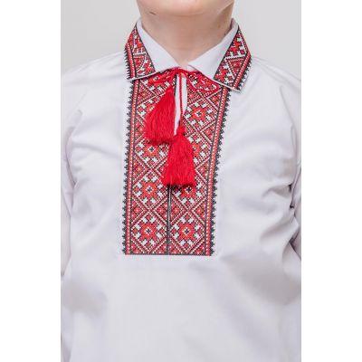 Вышиванка для мальчика Щедрик красный