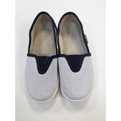 Туфли текстильные Эспадрильи серебро 44-495 ТМ Waldi
