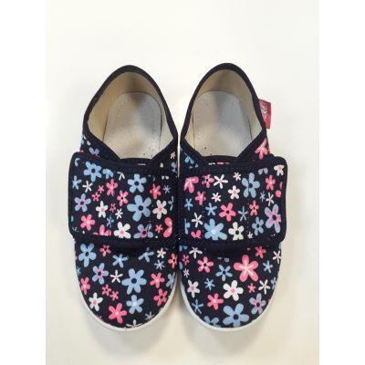 Туфли текстильные цветы Настя Валди