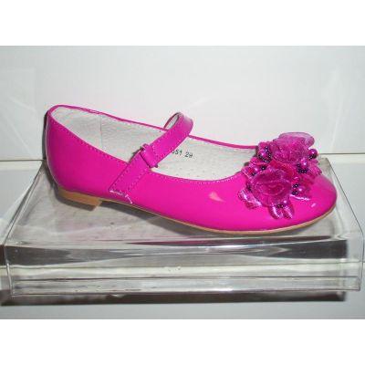 Туфли для девочки фуксия 216-651