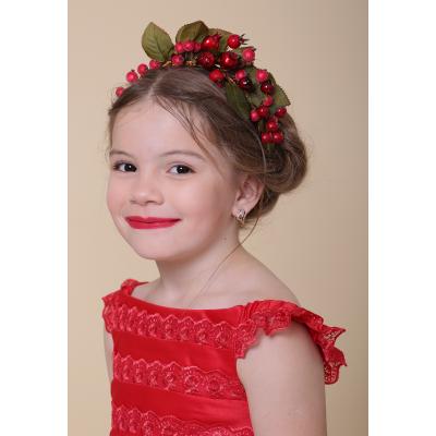 Обруч карнавальный для девочки Шиповник - Калина