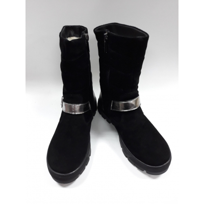 Ботинки для девочки черные 088