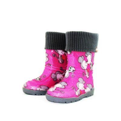 """Резиновые сапоги для девочки """"  Розовые Мышки"""""""