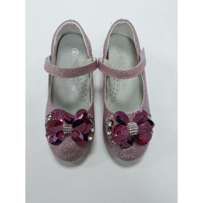 Туфли нарядные для девочки Цветок pink SB90-2P