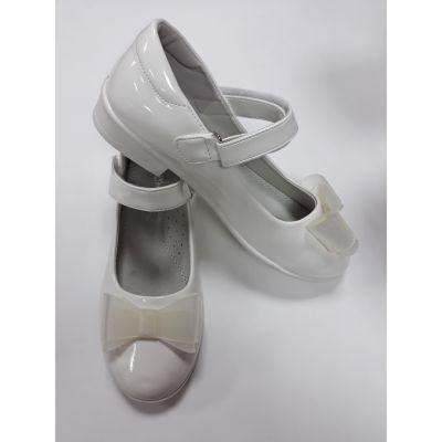 Туфли нарядные для девочки белые М13