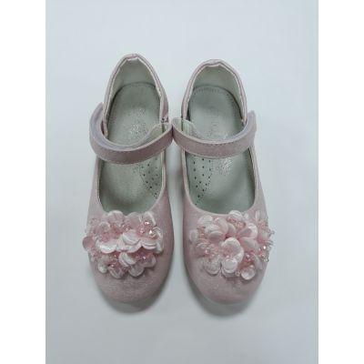 Нарядные туфли для девочки цветок розовый SB98-2P