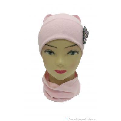 Комплект шапка + снуд для девочки Лола