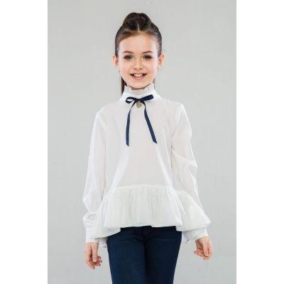 Блуза школьная для девочки Глэйдис молочная 46909 ТМ Suzie