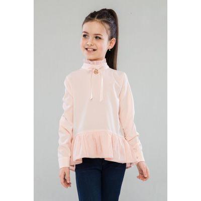 Блуза школьная для девочки Глэйдис 46909 персиковая