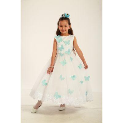 Нарядное платье для девочки Голубые Бабочки