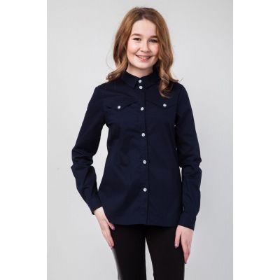 Блуза школьная для девочки Жасмин СЧ-27913 синяя