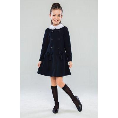 Школьное трикотажное платье для девочки Альбертина ПЛ-41903