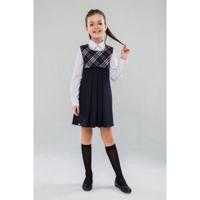 Сарафан школьный для девочки Натали СН-27901 синий