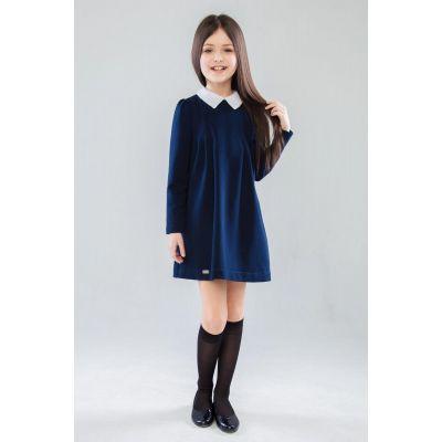 Школьное трикотажное плать для девочки Монна ПЛ-42903