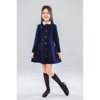 Школьное трикотажное платье для девочки Терезия 80803 синий