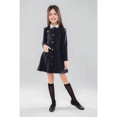 Школьное трикотажное платье для девочки Терезия 80803  черный