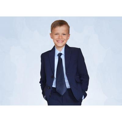 Пиджак школьный для мальчика темно-синий 70526