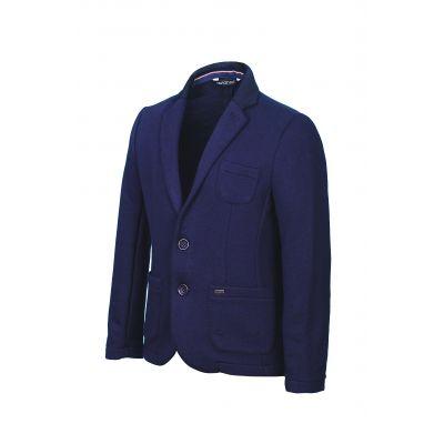 Пиджак трикотажный для мальчика 523/1 синий