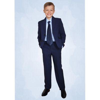 Костюм - тройка школьный для мальчика 70544 Deloras синий
