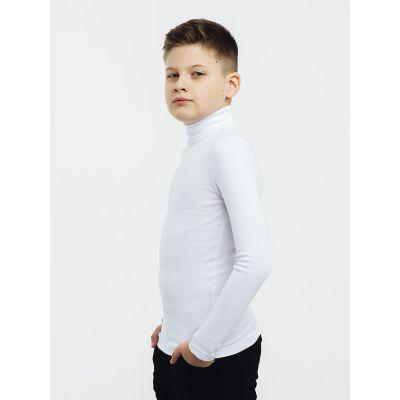 Гольф трикотажный для мальчика стойка молочный