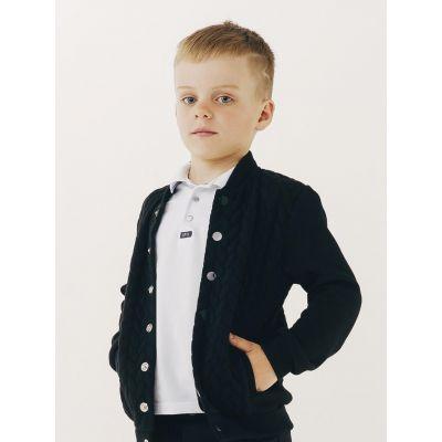Джемпер-пиджак черный для мальчика 116418/116417