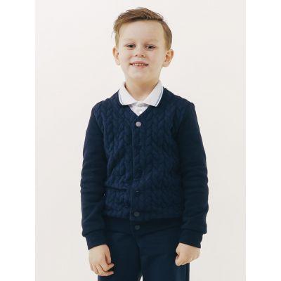 Джемпер - пиджак синий школьный для мальчика 116418/116417