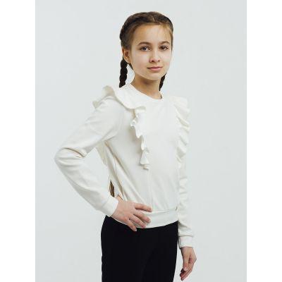 Блуза джемпер - свитшот для девочки 116397 молочный