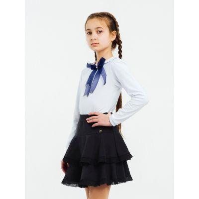 Юбка школьная для девочки синяя 120231 Smil