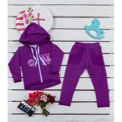 Комплект для девочки футер 735-314/316 фиолетовый