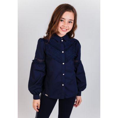 Блуза школьная для девочки 31913 Илария синяя Suzie