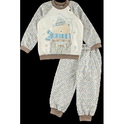 Пижама утепленная для мальчика ЗАК170Ф ТМ Ляля