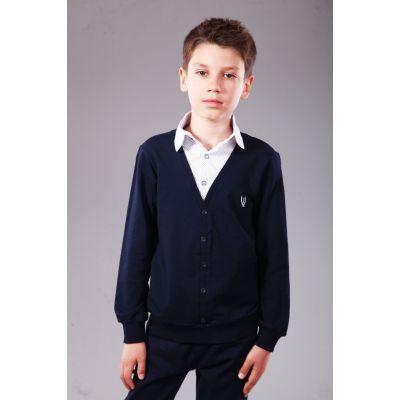 Джемпер - обманка для мальчика синяя 5044.02 ТМ A-Yugi