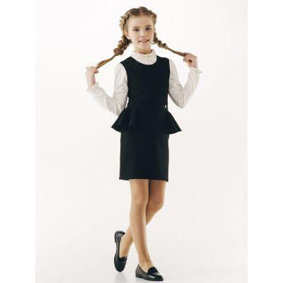 Сарафан школьный для девочки 120236 черный ТМ Smil